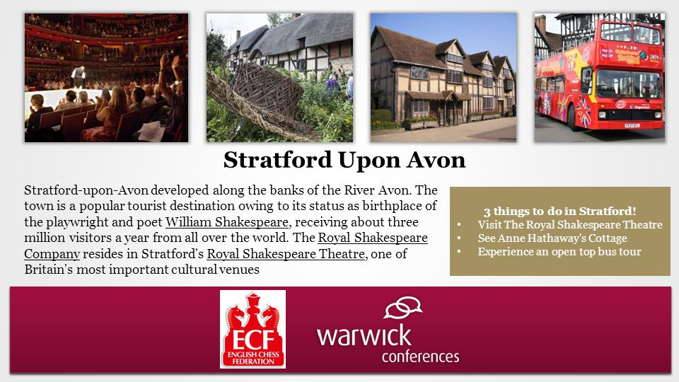 Stratford-upon-Avon developed along the banks of the River Avon.