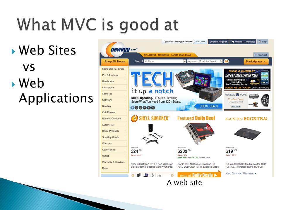  Web Sites vs  Web Applications A web site