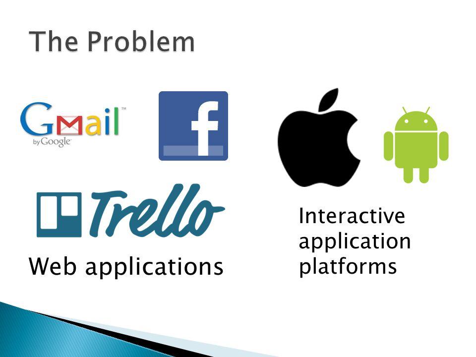 Web applications Interactive application platforms