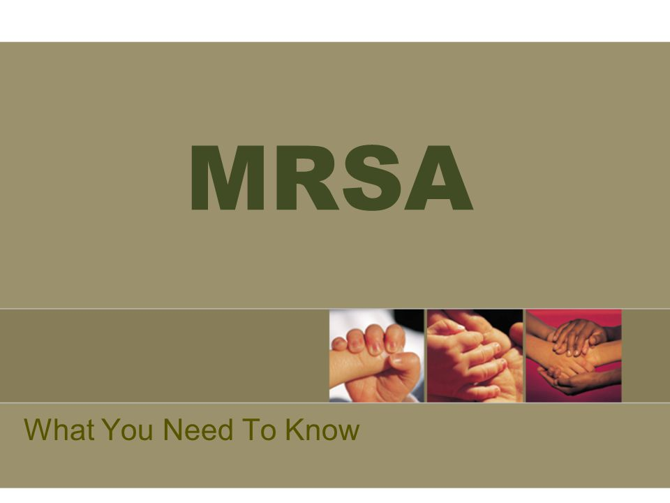 MRSA What You Need To Know