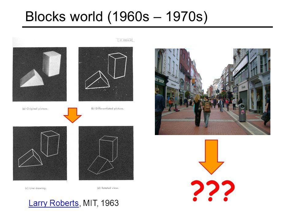 Blocks world (1960s – 1970s) Larry RobertsLarry Roberts, MIT, 1963 ???