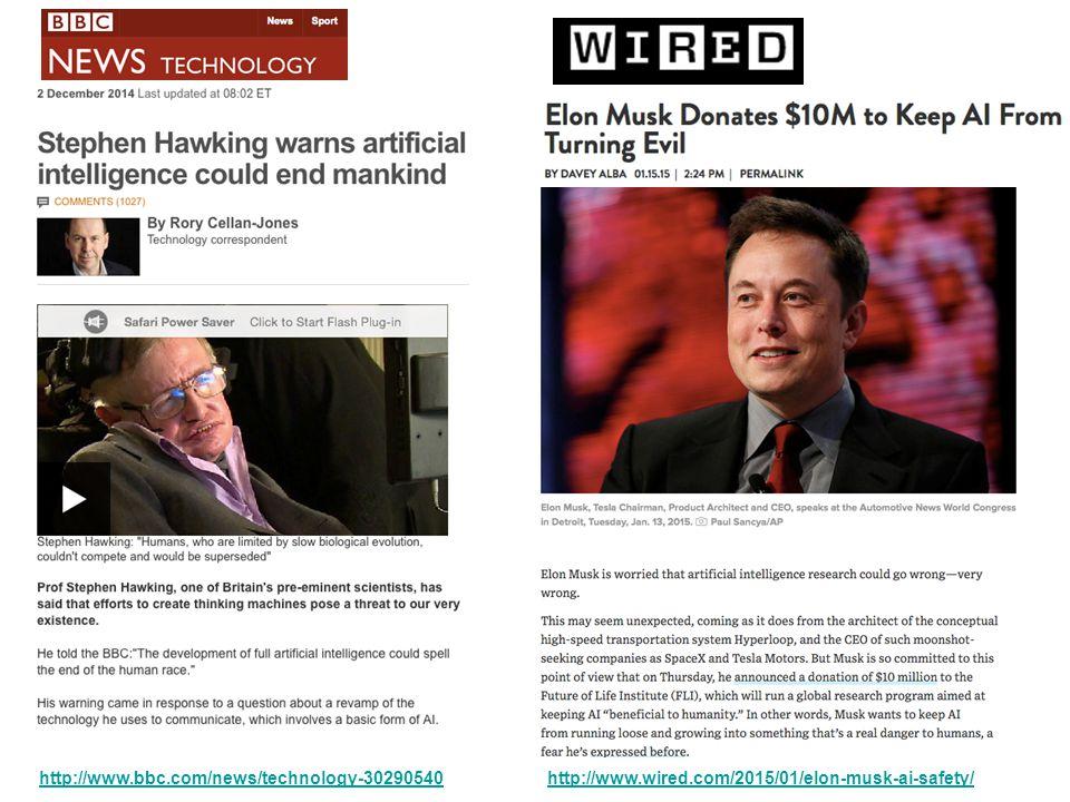 http://www.bbc.com/news/technology-30290540http://www.wired.com/2015/01/elon-musk-ai-safety/
