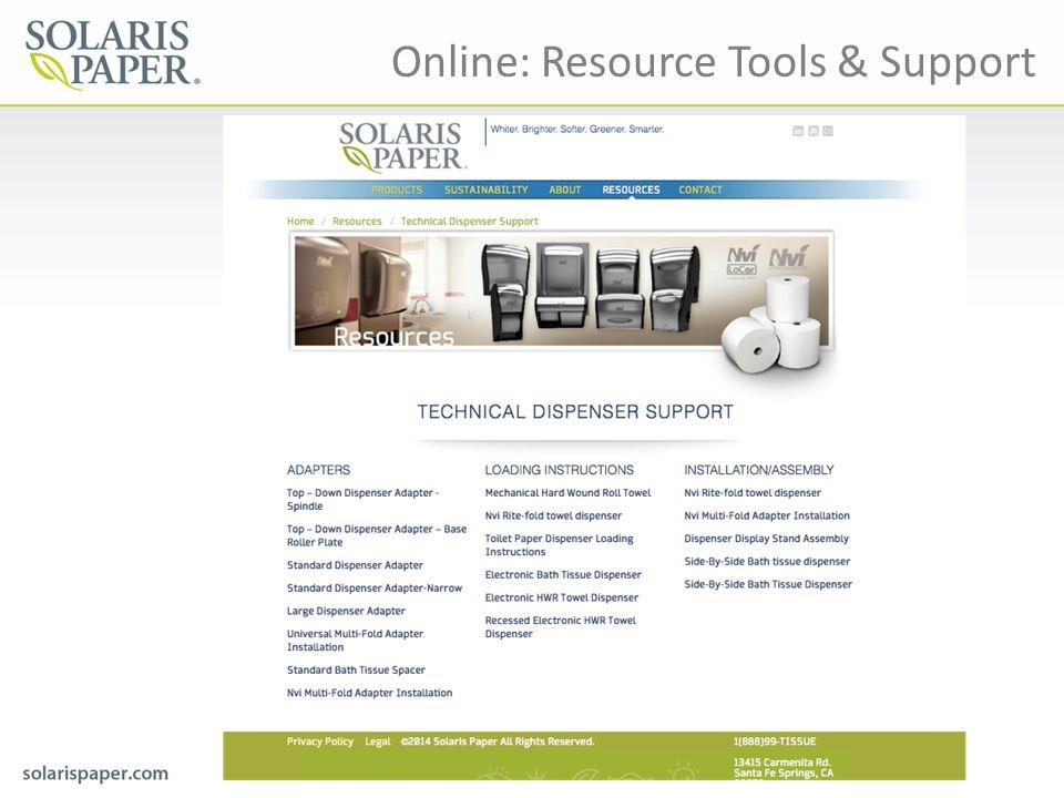 Online: Resource Tools & Support
