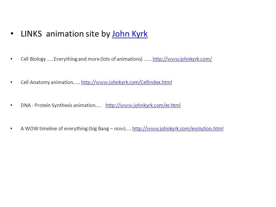 LINKS animation site by John KyrkJohn Kyrk Cell Biology....