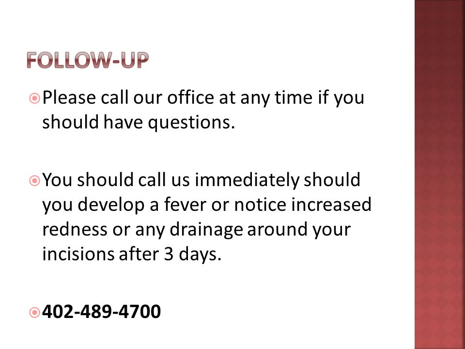  Please call our office at any time if you should have questions.