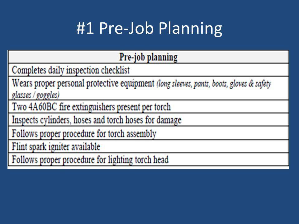 #1 Pre-Job Planning