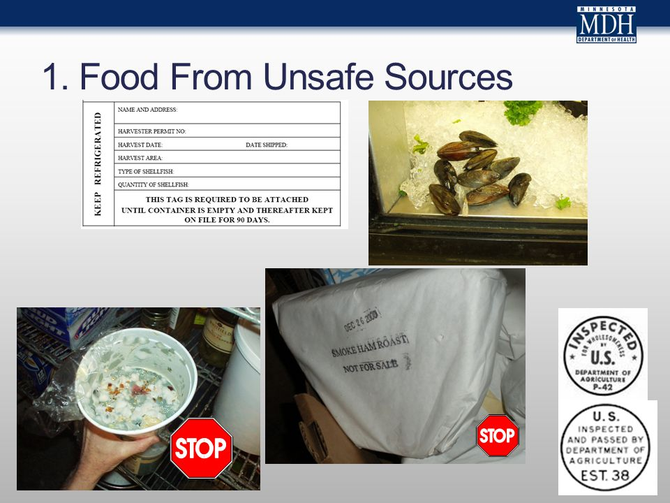 1. Food From Unsafe Sources