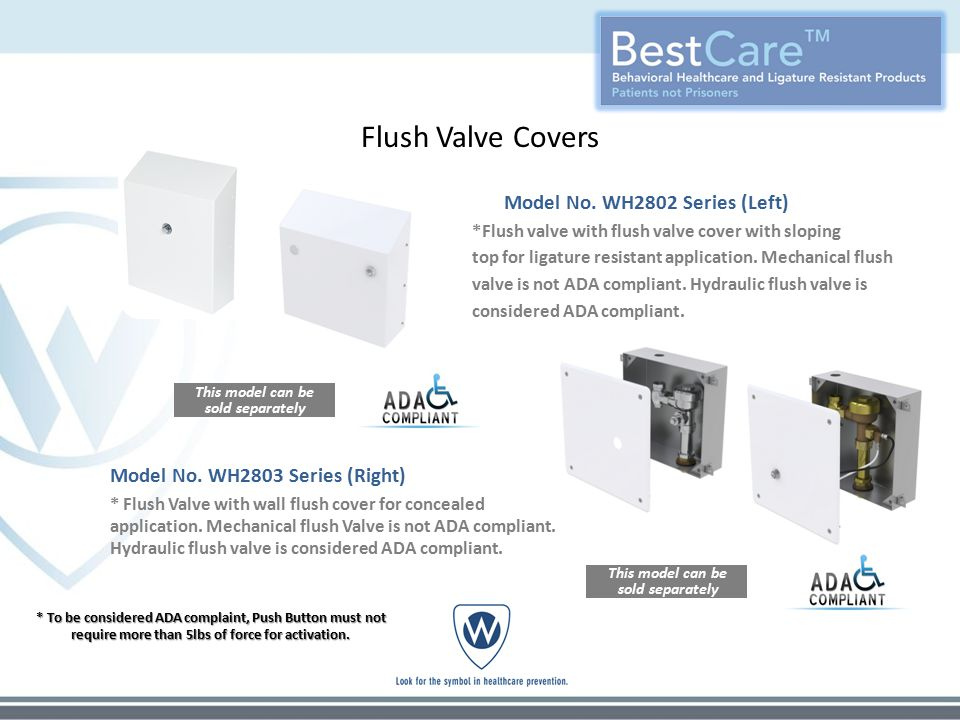 Flush Valve Covers Model No.