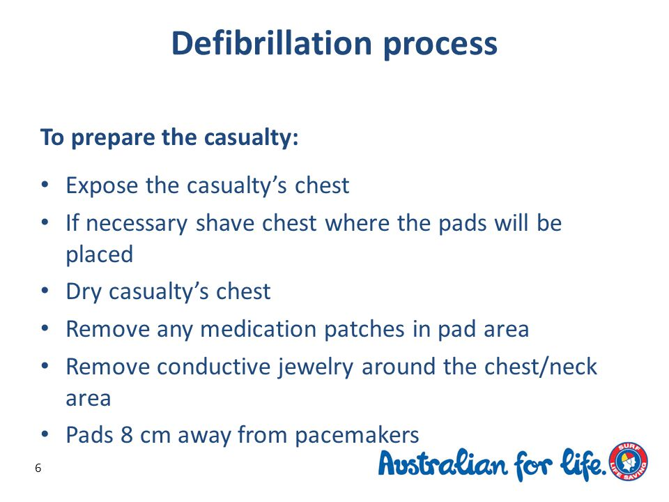 Safety precautions A safe working environment must be created before defibrillation can occur.