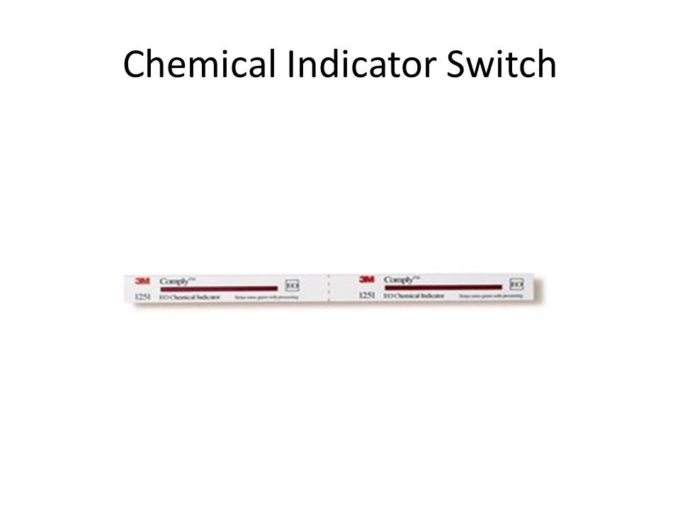 Chemical Indicator Switch