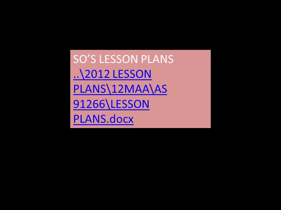 SO'S LESSON PLANS..\2012 LESSON PLANS\12MAA\AS 91266\LESSON PLANS.docx..\2012 LESSON PLANS\12MAA\AS 91266\LESSON PLANS.docx