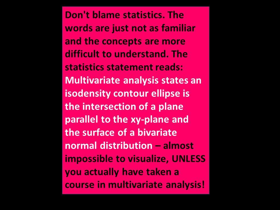 Don t blame statistics.