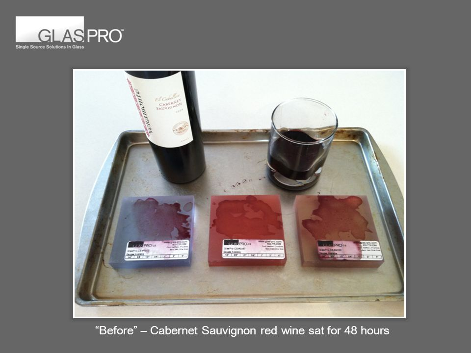 Before – Cabernet Sauvignon red wine sat for 48 hours