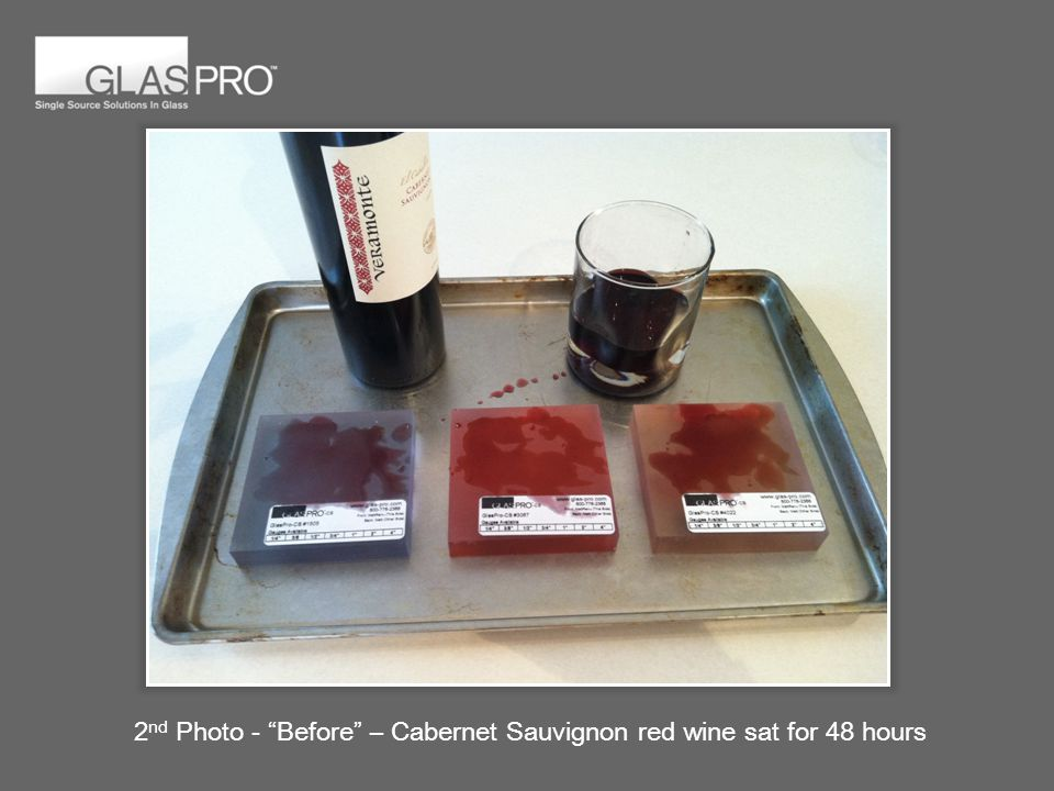 2 nd Photo - Before – Cabernet Sauvignon red wine sat for 48 hours