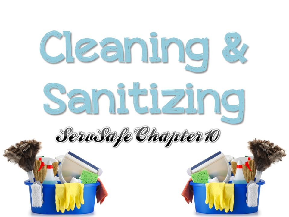 Sanitize the equipment surfaces by making sure the sanitizer comes in contact with each surface.