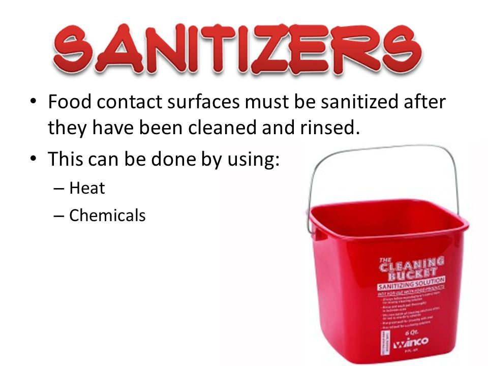 Cleaning tools and chemicals must be stored in a separate area away from food and prep areas.