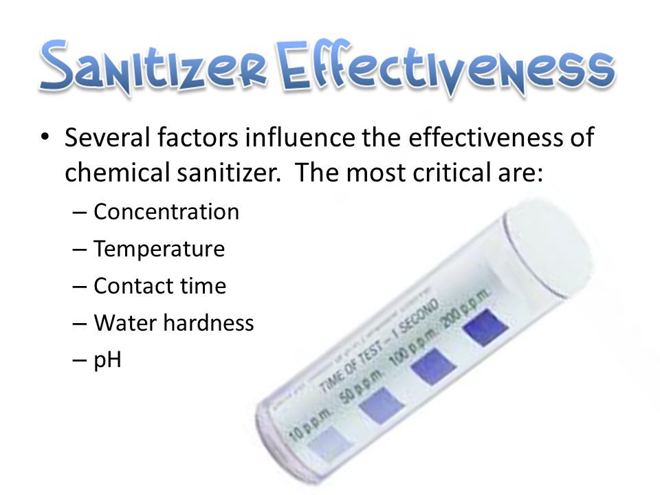 What is sanitizing.