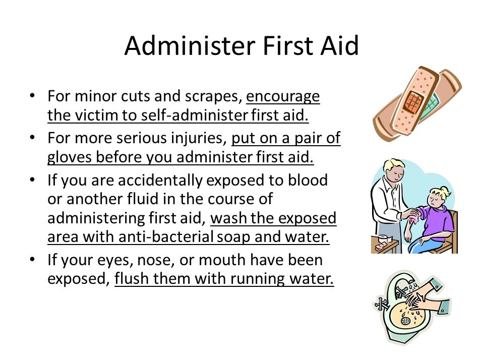 Assess the Situation As a school employee you are dedicated to children and your first instinct might be to assist an injured child right away. It is