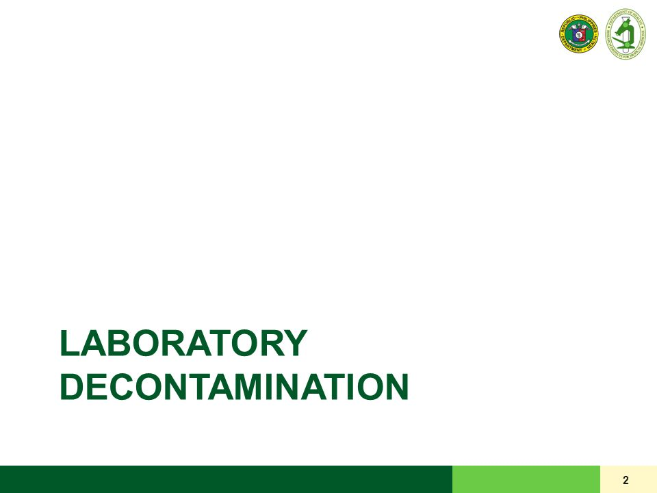 LABORATORY DECONTAMINATION 2
