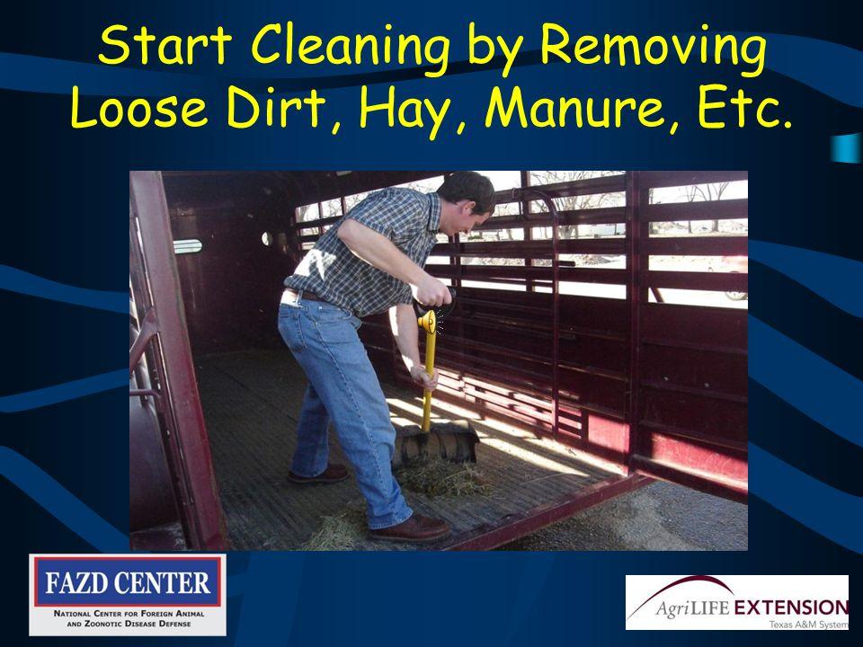 Follow Set Procedures When Cleaning Trailers, Tractors, Etc.