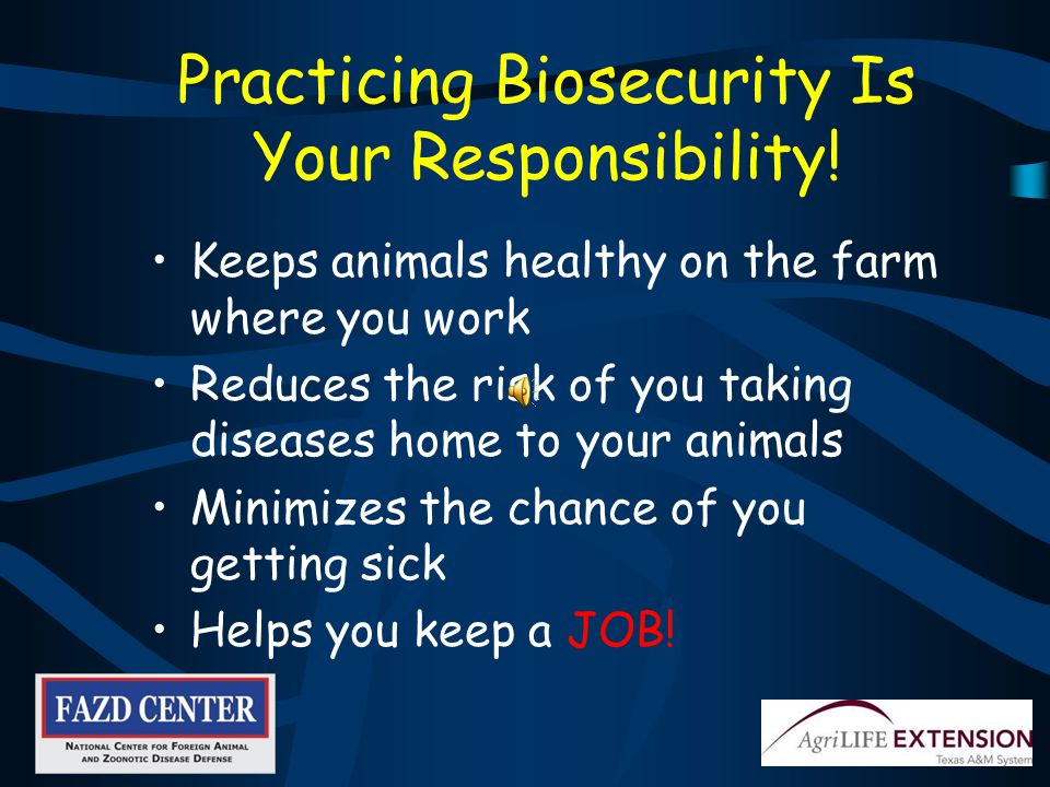 If you travel out of the U.S., realize you may need to stay off farms when you return for a period of time.