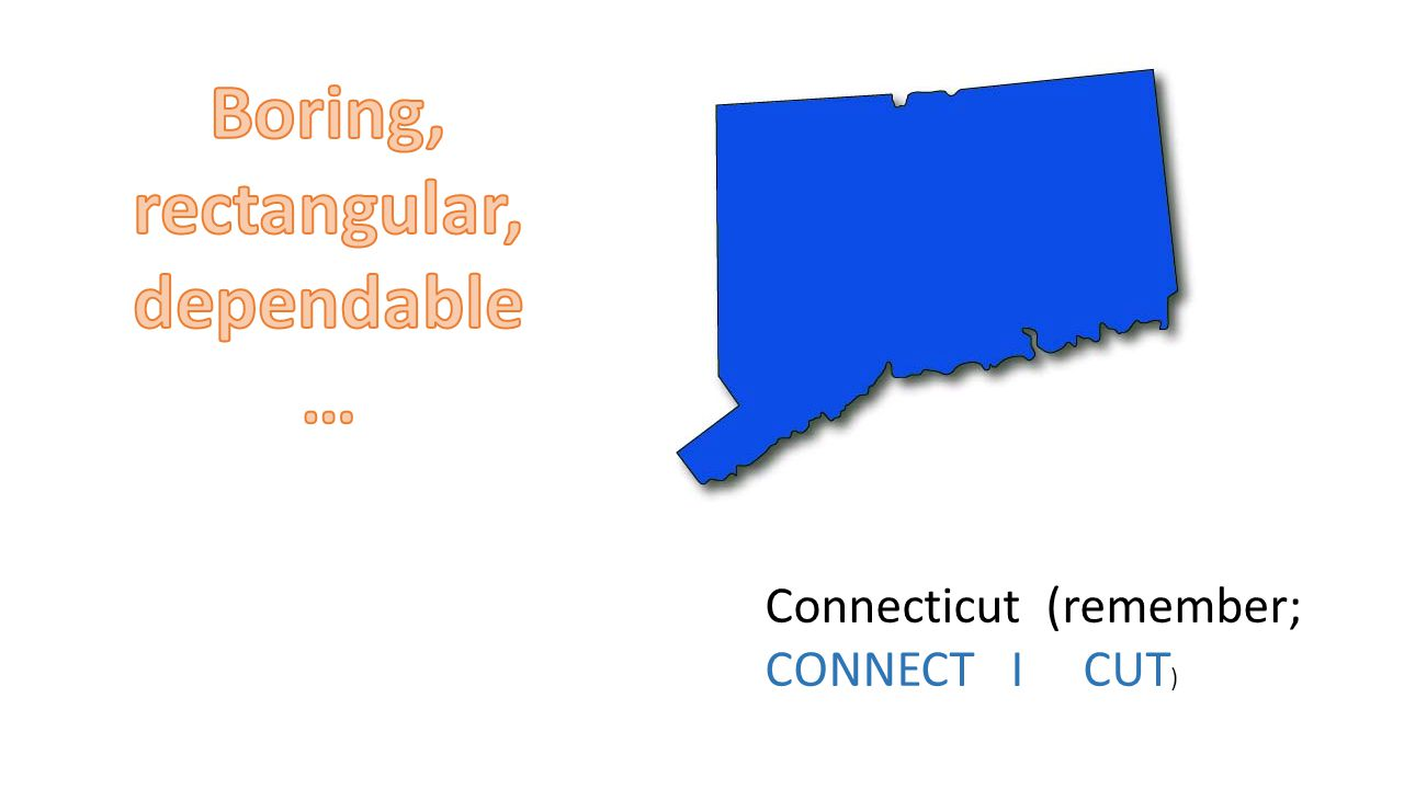 Connecticut (remember; CONNECT I CUT )