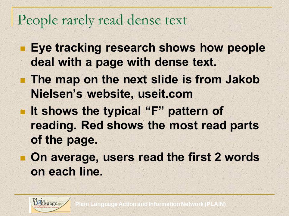 Plain Language Action and Information Network (PLAIN) Exercises - Lists 1.