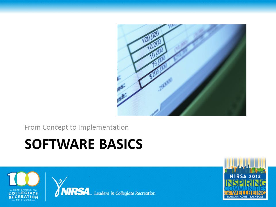 SOFTWARE BASICS From Concept to Implementation