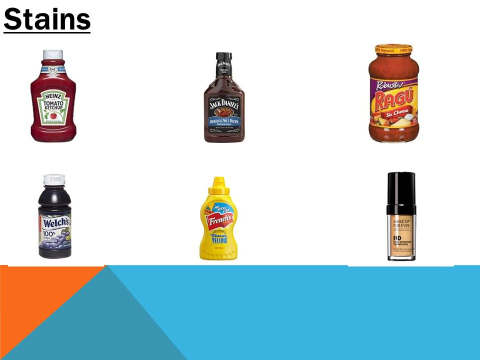 TIDE-TO-GO DRY STAINS 1.) Apply stains.2.) Allow to dry over night.