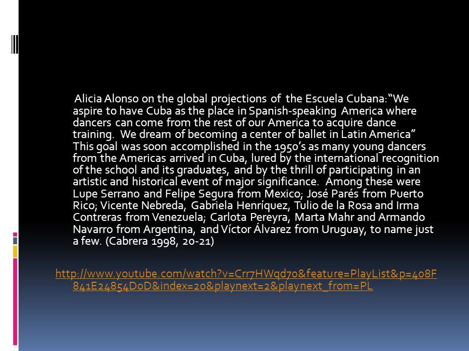 1960.Ballet Alicia Alonso receives national endorsement and becomes Ballet Nacional de Cuba.