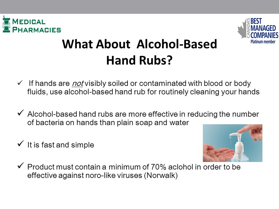 What About Alcohol-Based Hand Rubs.