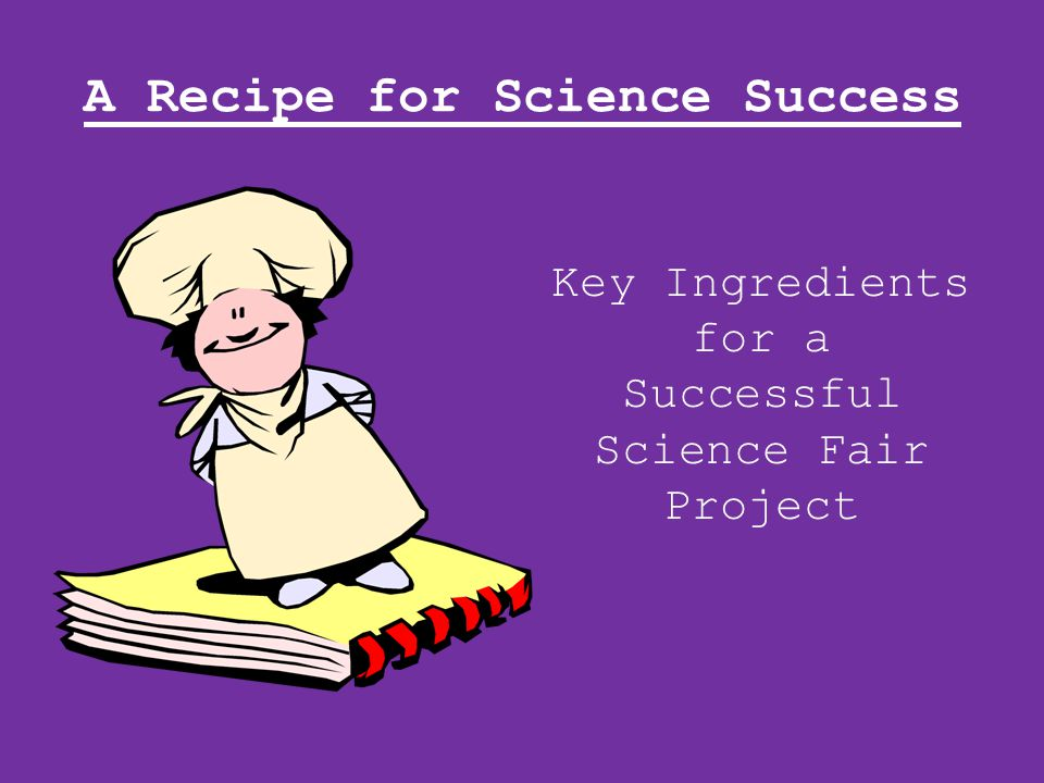 Ingredient #7 Data - This is the information you collect from your experiment.