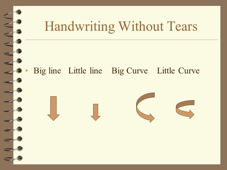 Handwriting Without Tears Big line Little line Big Curve Little Curve