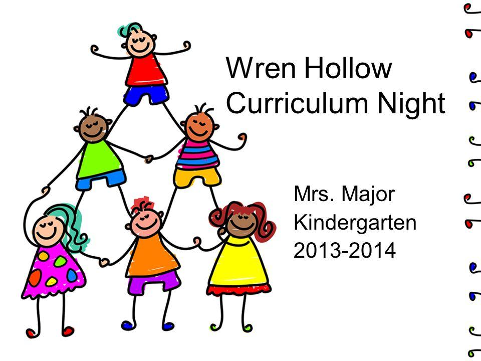 Wren Hollow Curriculum Night Mrs. Major Kindergarten 2013-2014