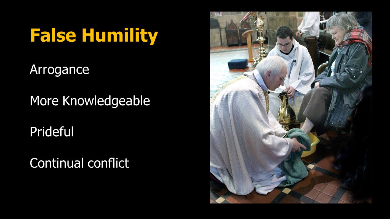 True Humility any gracious act offered with no thought of returned favor or desire to announce the good deed. (p.