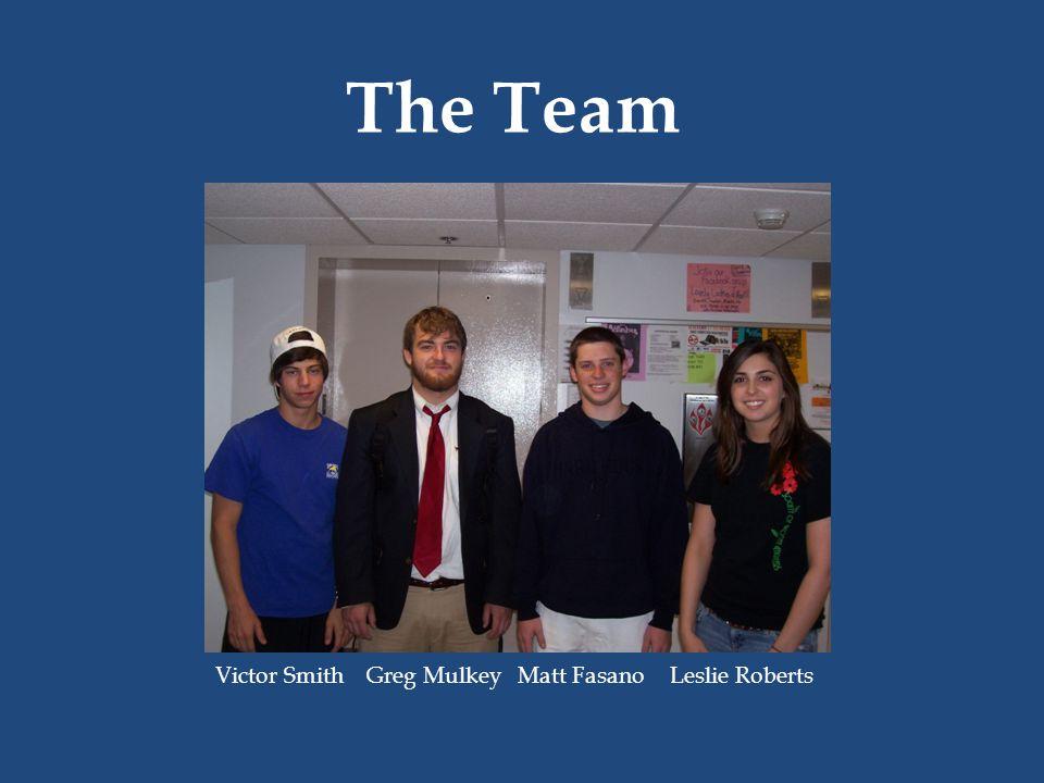 The Team Victor Smith Greg MulkeyMatt FasanoLeslie Roberts