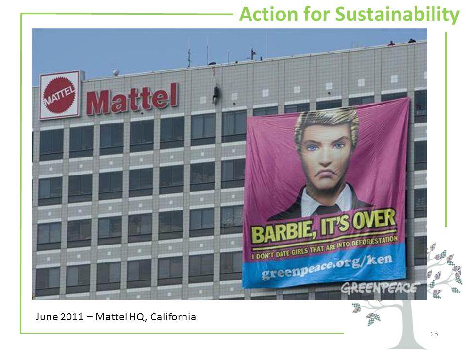 23 June 2011 – Mattel HQ, California