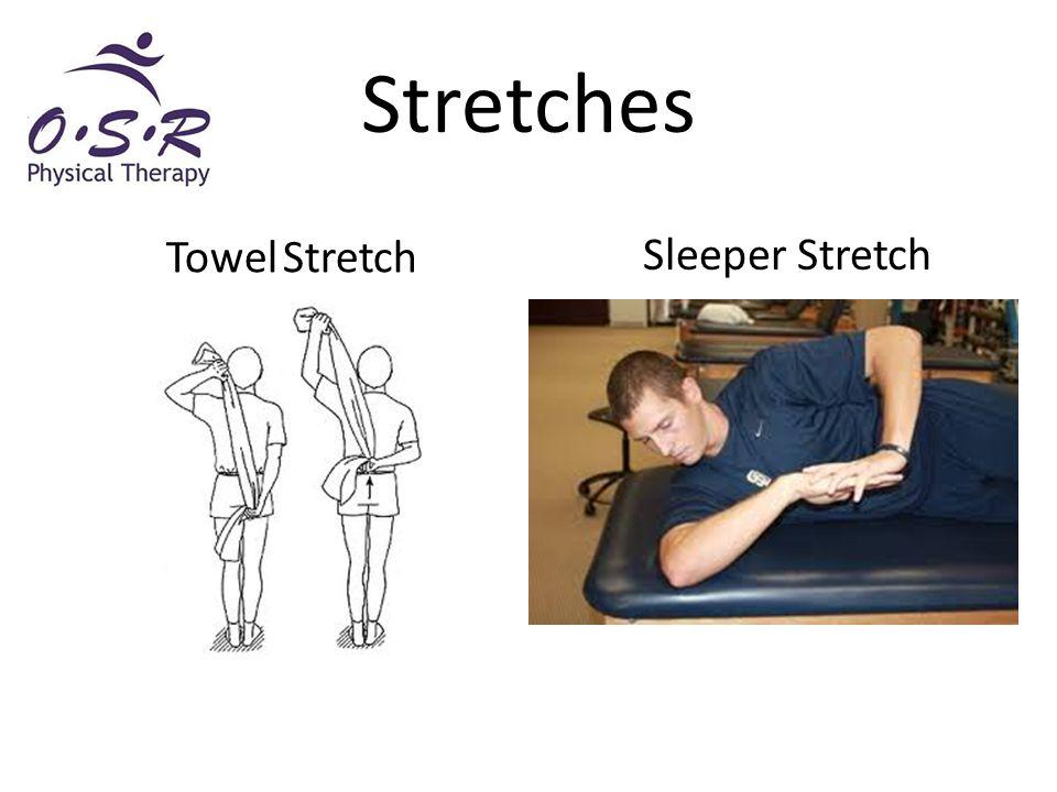 Stretches Sleeper Stretch Towel Stretch