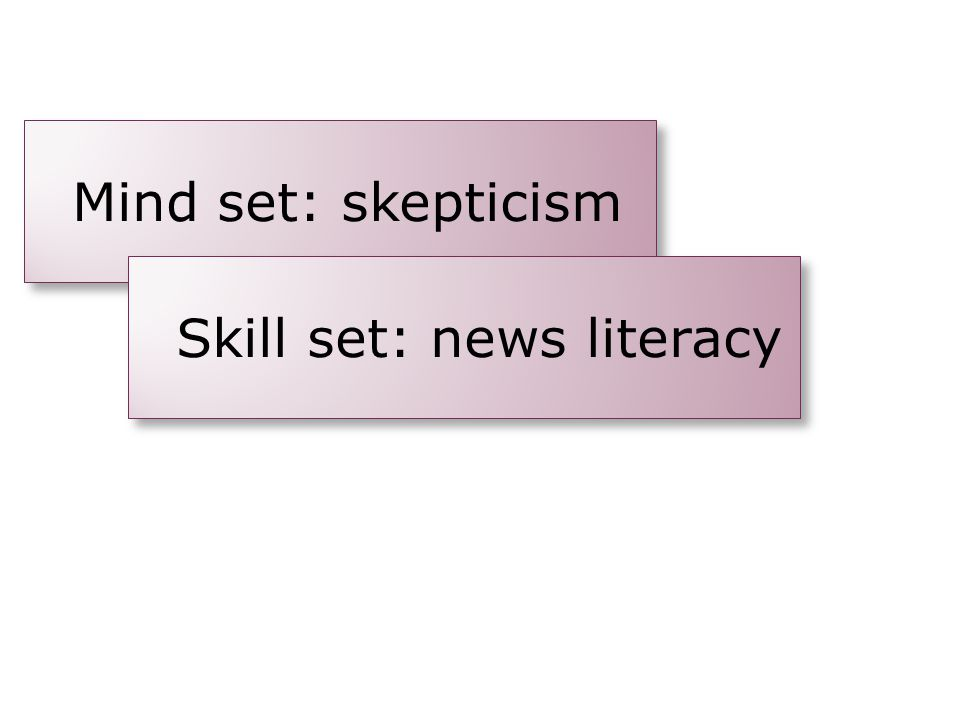 Skill set: news literacy