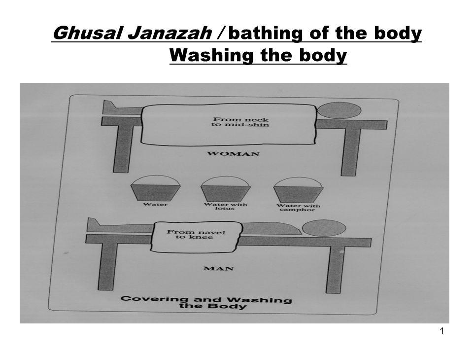 1 Ghusal Janazah / bathing of the body Washing the body