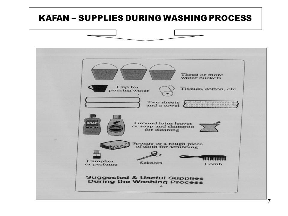 7 KAFAN – SUPPLIES DURING WASHING PROCESS