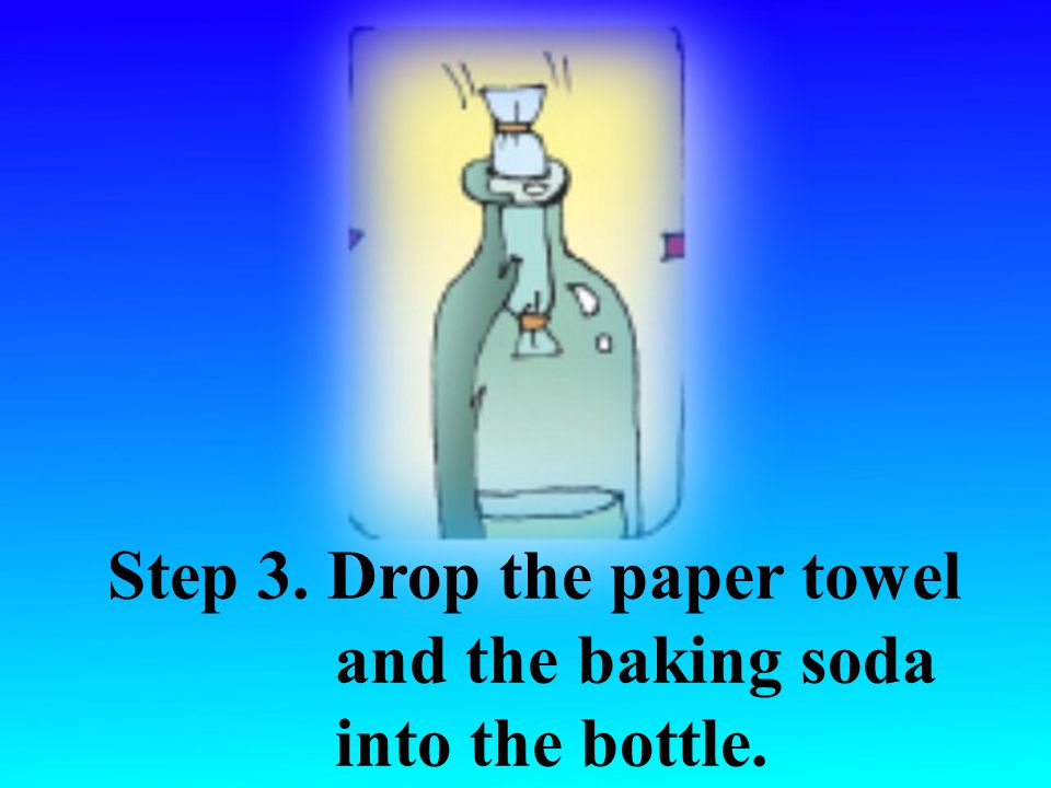 Step 2. Put the baking soda into the middle of the paper towel.