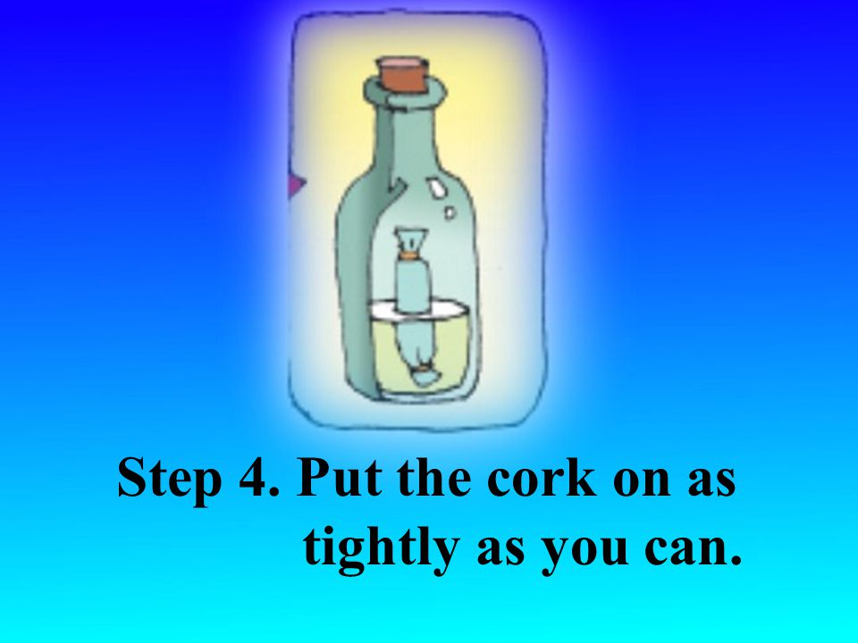 Step 3. Drop the paper towel and the baking soda into the bottle.