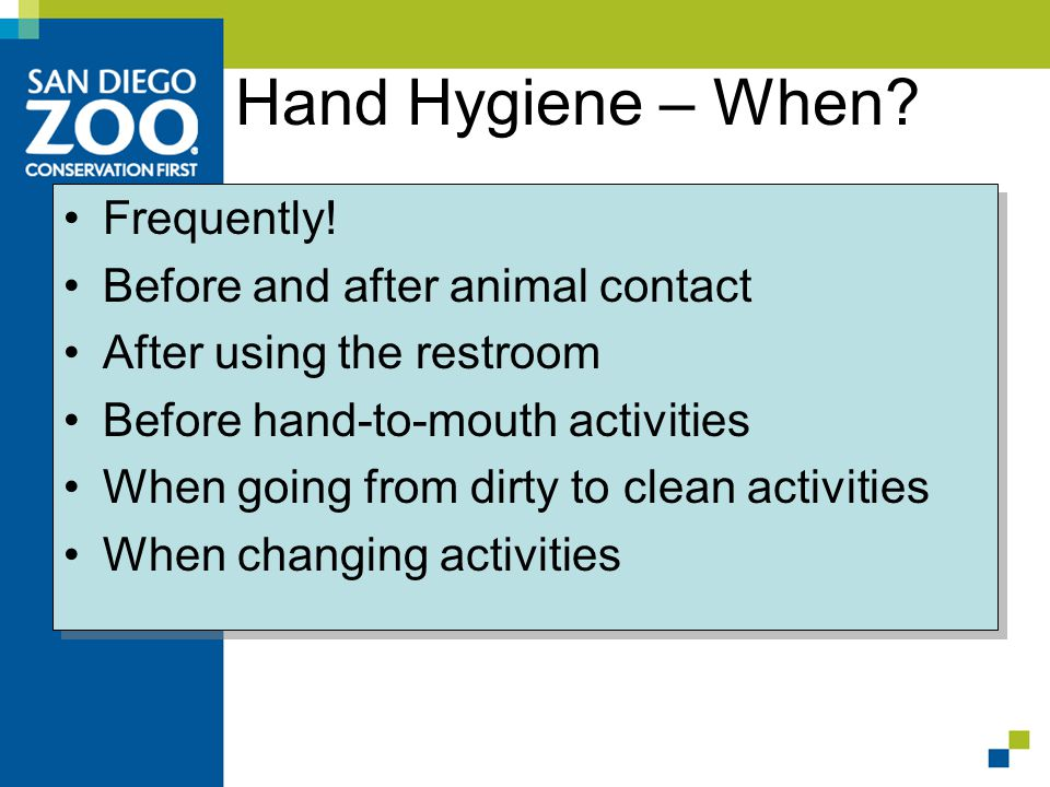 Hand Hygiene – When. Frequently.