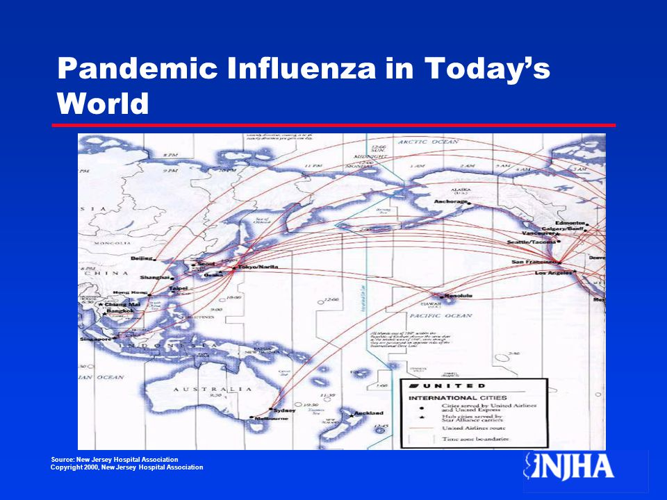 Source: New Jersey Hospital Association Copyright 2000, New Jersey Hospital Association Pandemic Influenza in Today's World
