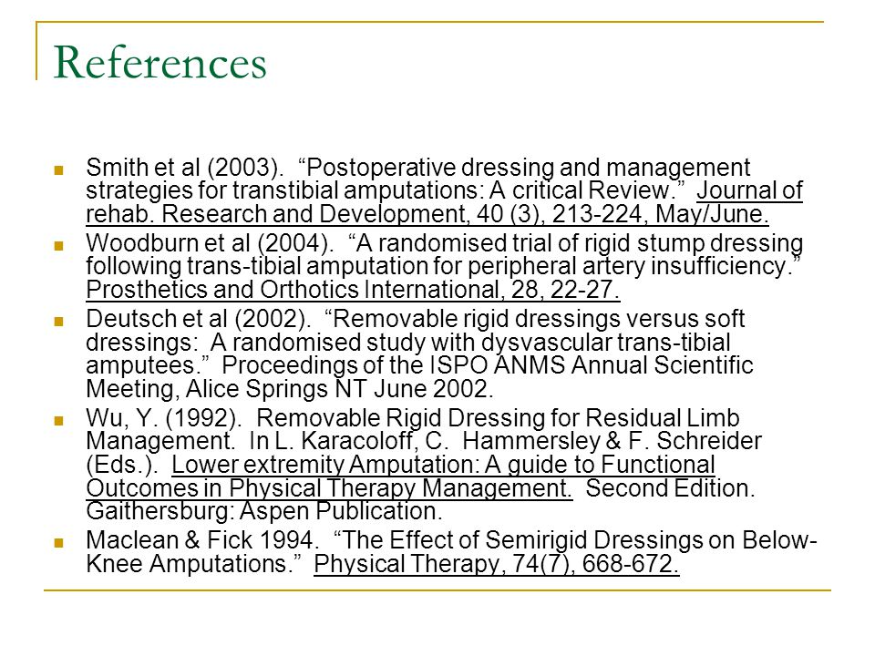 References Smith et al (2003).
