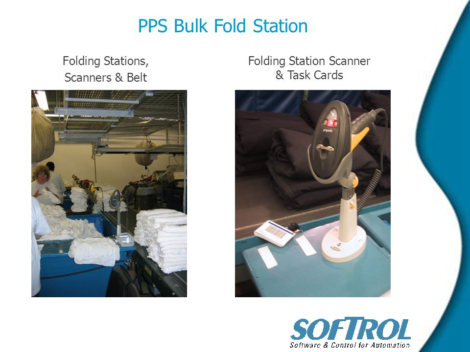 Folding Stations, Scanners & Belt PPS Bulk Fold Station Folding Station Scanner & Task Cards