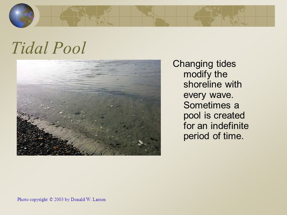 Tidal Pool Changing tides modify the shoreline with every wave.