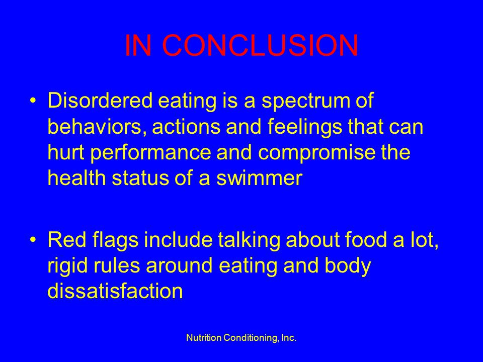 Nutrition Conditioning, Inc.