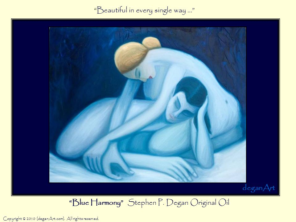 Blue Harmony Stephen P. Degan Original Oil Copyright © 2010 [deganArt.com].